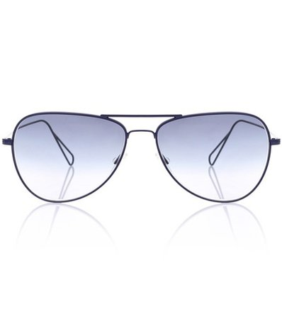 Matt aviator sunglasses for Oliver Peoples