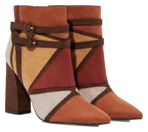 Just Fab Multi-colored block booties