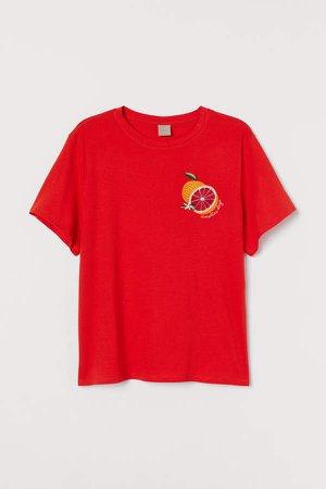 H&M+ Cotton Jersey T-shirt - Orange