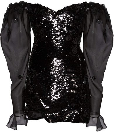 Sequin Off-The-Shoulder Mini Dress