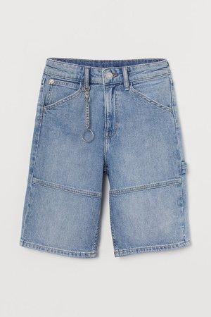 Comfort Stretch Denim Shorts - Blue