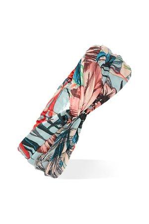 Tropical Print Silk Headwrap | Forever 21