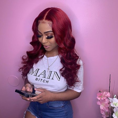 """Romancehaircompany on Instagram: """"Search for 🔎hot016 to buy the red lace Wave wig Follow me @romancehaircompany @romancehaircompany to get more #voiceofhair #atlhair…"""""""