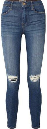 Le High Skinny Jeans - Mid denim