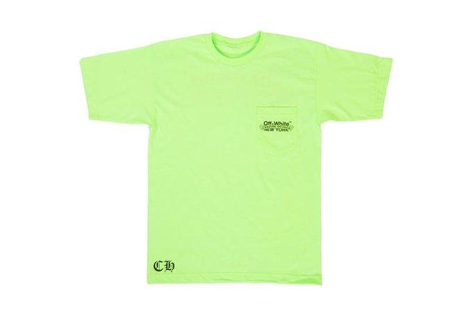 neon green shirt