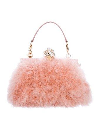 Dolce & Gabbana Crystal Embellished Feather Bag - Handbags - DAG122852 | The RealReal