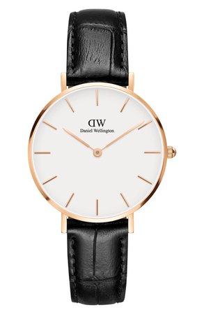 Daniel Wellington Classic Petite Leather Strap Watch, 32mm | Nordstrom