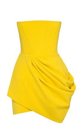 Exclusive Buckley Draped Stretch Crepe Strapless Mini Dress By Alex Perry   Moda Operandi