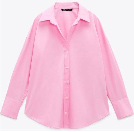 Zara oversized pink shirt