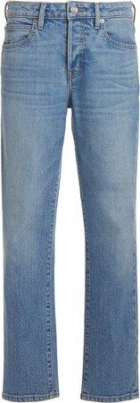 Lou Lou Cropped Mid-Rise Slim-Leg Jeans