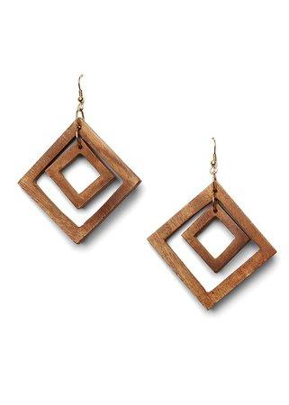 Wood Earrings in Brown | VENUS