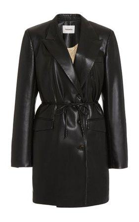 Remi Oversized Vegan Leather Mini Blazer Dress By Nanushka | Moda Operandi