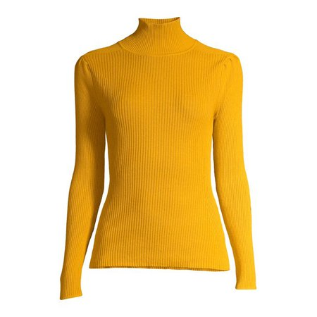 Scoop - Scoop Women's Puckered Sleeve Turtleneck Sweater - Walmart.com - Walmart.com