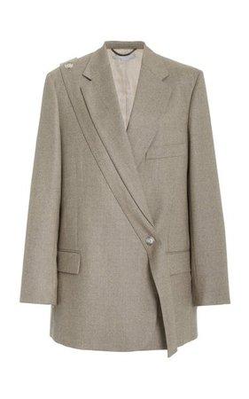 Asymmetric Wool Blazer By Stella Mccartney   Moda Operandi