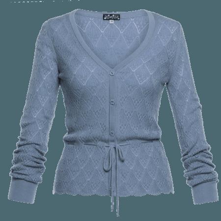 """Harmony"" cardigan in blue - Lena Hoschek"