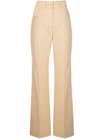 Nanushka Clara Belted Flared Trousers - Farfetch