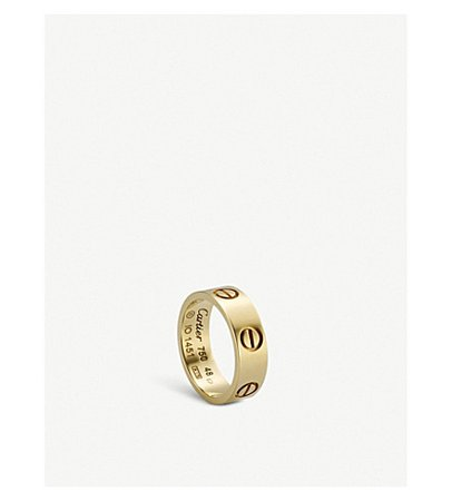 CARTIER - LOVE 18ct yellow-gold ring | Selfridges.com
