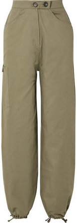 The Range - Cotton-blend Twill Cargo Pants - Army green