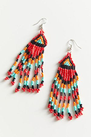 Fiona Beaded Statement Earring | Urban Outfitters