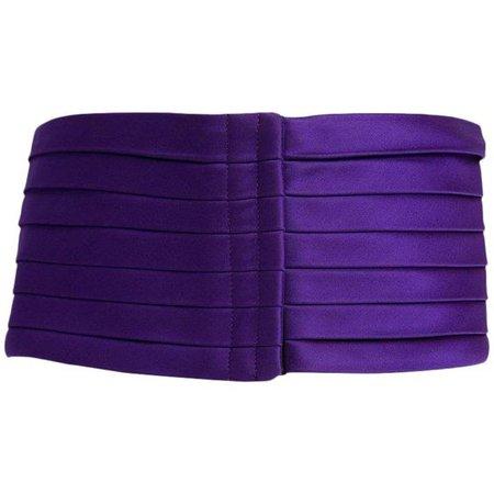(6) Pinterest - 1970s Yves Saint Laurent Purple Pleated Silk Wide Cummerbund Belt | Products