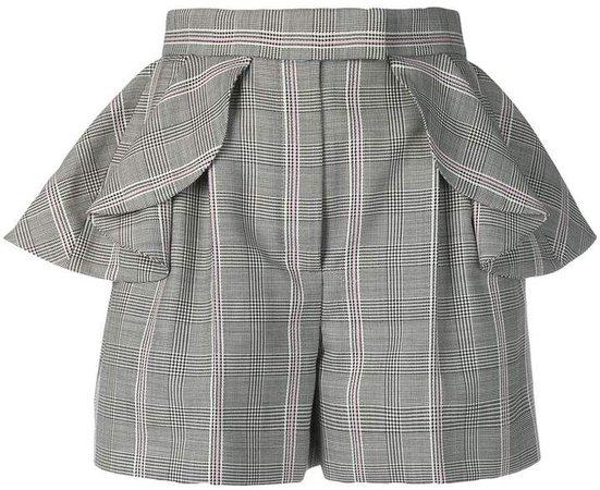 ruffled herringbone shorts