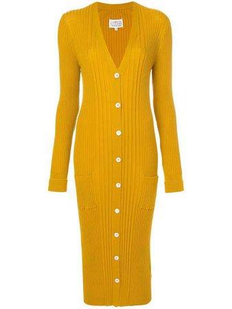 Maison Margiela Long Ribbed Knit Cardigan - Farfetch