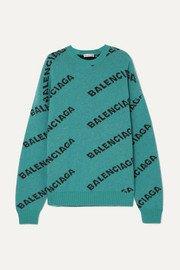 Balenciaga   Printed ribbed-knit top   NET-A-PORTER.COM
