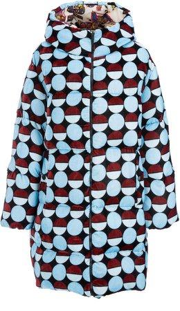 La DoubleJ Reversible Printed Velvet Puffer Coat