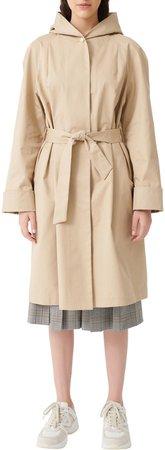Gisele Hooded Cotton Trench Coat