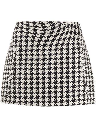 Off-White Houndstooth Mini Skirt - Farfetch