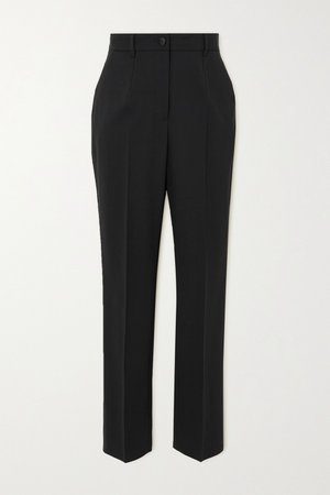 Black Wool-blend straight-leg pants   Dolce & Gabbana   NET-A-PORTER