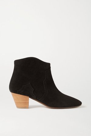 Dicker Suede Ankle Boots - Black
