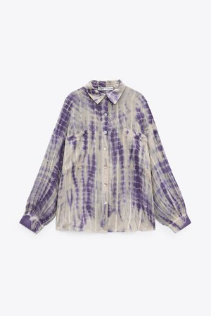 TIE-DYE LINEN BLEND BLOUSE LIMITED EDITION | ZARA United States