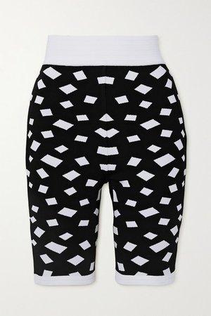 Jacquard-knit Shorts - Black