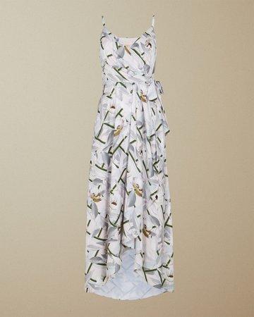 Everglade sleeveless wrap dress - Pale Pink   Dresses   Ted Baker UK