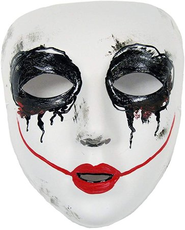 Amazon.com: Success Creations Smiley Similar Purge Scary Masquerade Mask for Men and Women White: Clothing