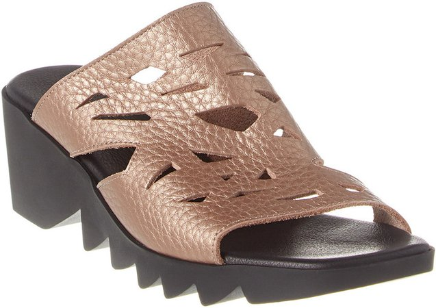 Himara Leather Wedge Sandal