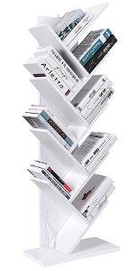 Amazon.com: SUPERJARE 9-Shelf Tree Bookshelf, Thickened Compact Book Rack Bookcase, Display Storage Furniture for CDs, Movies & Books - Black: Home & Kitchen
