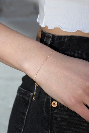 Thin Gold Bracelet - Bracelets - Jewelry - Accessories