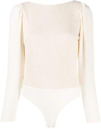 Open-Back Ruched Bodysuit