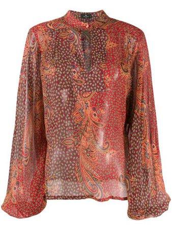 Etro paisley-print Silk Blouse - Farfetch
