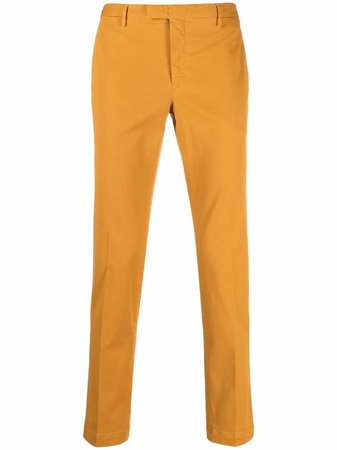 Pt01 pressed-crease slim-fit tailored trousers - FARFETCH