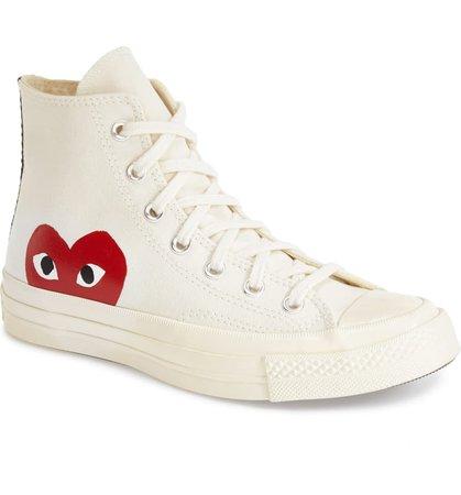 Comme des Garçons PLAY x Converse Chuck Taylor® Hidden Heart High Top Sneaker (Women) | Nordstrom