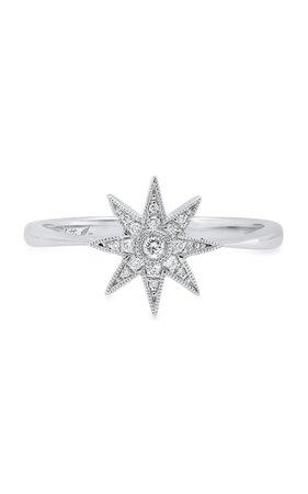 Single Star 18k White Gold And Diamond Ring By Colette Jewelry | Moda Operandi