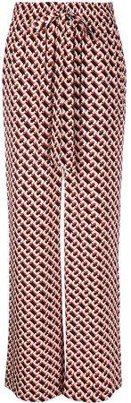 Dvf Diane Von Furstenberg Geometric Print Palazzo Trousers