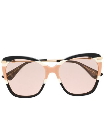 Gucci Eyewear Oversized butterfly-frame Sunglasses - Farfetch