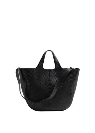Violeta BY MANGO Snake-effect shopper bag