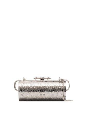 OKHTEIN, Silver Felucca Swarovski Ombré Clutch