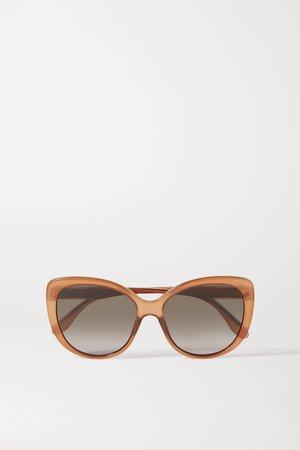 Brown Cat-eye acetate sunglasses | Gucci | NET-A-PORTER
