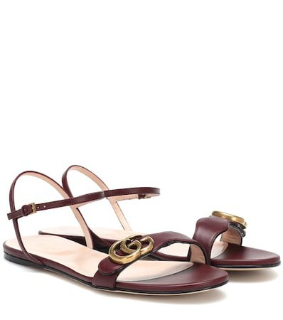 Marmont GG leather sandals